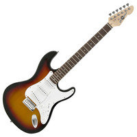 Electric-ST Guitar by Gear4music SUNBURST