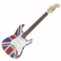 Electric-ST Guitar by Gear4music Union Jack