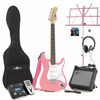 Electric-ST Guitar Pink Multi FX Pack