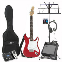 Electric-ST Guitar Red Multi FX Pack