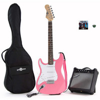 Electric-ST Left Hand Guitar + Amp Pack Pink