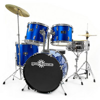 GD-5 Drum Kit by Gear4music 5 Piece BLUE