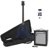 Gear4Music Houston Electric Guitar   35W Amp Pack Blue