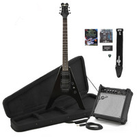 Houston Electric Guitar + Complete Pack Black