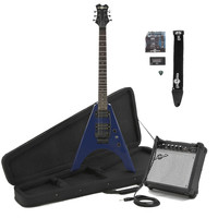 Houston Electric Guitar + Complete Pack Blue