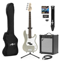 LA Bass Guitar + 35W Amp Pack Silver