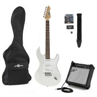 LA Electric Guitar + Amp Pack Silver