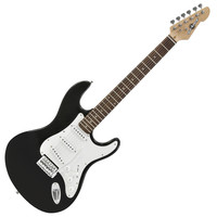 LA Electric Guitar by Gear4music Black
