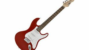 LA Electric Guitar by Gear4music Red - Nearly New