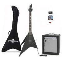 Metal V Electric Guitar + 35W Amp Pack Black