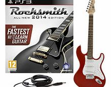 Rocksmith 2014 PS3 + LA Electric Guitar Red