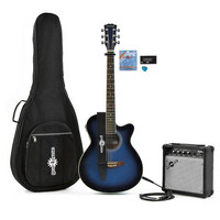 Single Cutaway Acoustic Guitar + 15W Amp Pack Blue