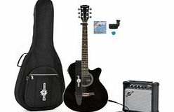 Single Cutaway Electro Acoustic Guitar + 15W Amp