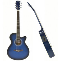 Single Cutaway Electro Acoustic Guitar Blue