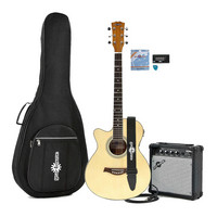Single Cutaway Left Hand Acoustic Guitar + 15W