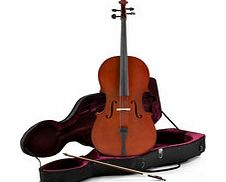 Student 1/4 Size Cello with Case by Gear4music -
