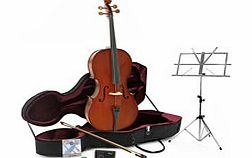 Student Plus 4/4 Size Cello with Case + Beginner