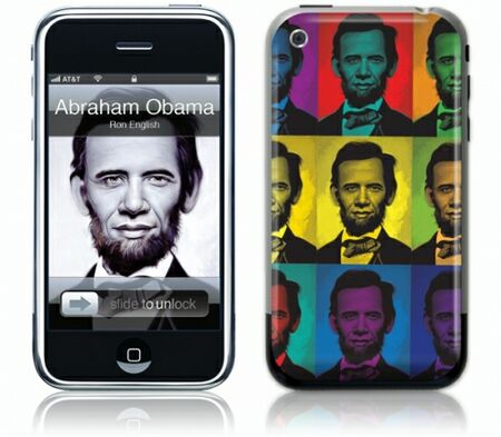 Gelaskins iPhone 1st Gen GelaSkin Abraham Obama by Ron