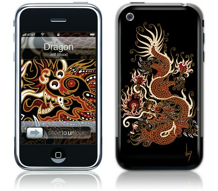 Gelaskins iPhone 1st Gen GelaSkin Dragon by Jeff Wood