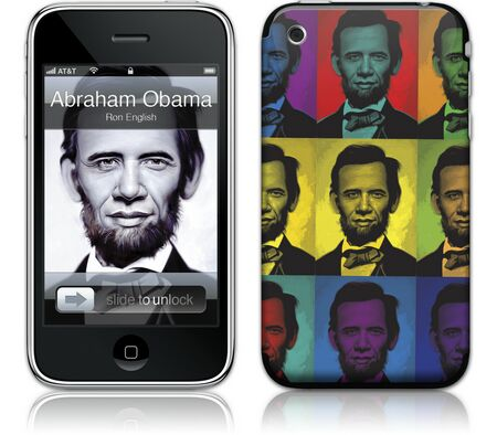 Gelaskins iPhone 3G 2nd Gen GelaSkin Abraham Obama by Ron