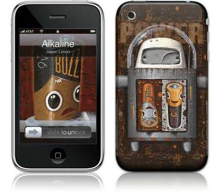 Gelaskins iPhone 3G 2nd Gen GelaSkin Alkaline by Jason Lim