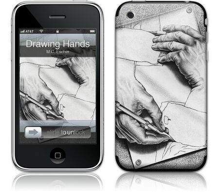 Gelaskins iPhone 3G 2nd Gen GelaSkin Drawing Hands by MC
