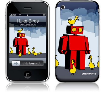 Gelaskins iPhone 3G 2nd Gen GelaSkin I Like Birds by