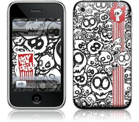 Gelaskins iPhone 3G 2nd Gen GelaSkin Monster by PlayDead