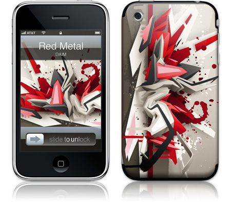 Gelaskins iPhone 3G 2nd Gen GelaSkin Red Metal by DAIM