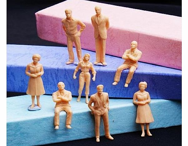 100pcs Unpainted Model Train People Figures Scale O (1 to 50)
