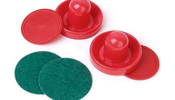 Generic 2 Air Hockey Pushers 2 Pucks Table Hockey Handles
