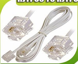 20M High Speed RJ11 to RJ11 BT Broadband Extension Cable Lead For ADSL Modem Router Internet Sky Box 20 M Meter Metre UK