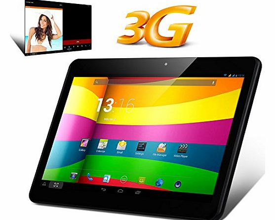 Express Electrics 10.1 Inch IPS 3G Quad Core Tablet PC - MTK8382 CPU, 1GB RAM, Android 4.2 OS, 2x SIM Card Slots - Black