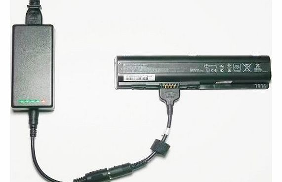 External (Standalone) Laptop Battery Charger for HP Compaq Presario CQ61-4XXXX Series - Charges your battery outside the laptop