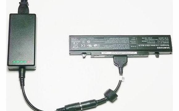 External (Standalone) Laptop Battery Charger for Samsung R507, R509 Series - Charges your battery outside the laptop