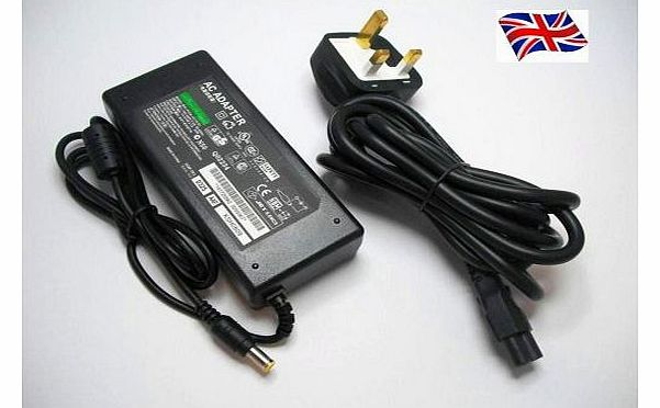 FOR SONY VAIO PCG-7185M LAPTOP CHARGER AC ADAPTER 19.5V 4.7A 90W MAINS BATTERY POWER SUPPLY UNIT INCLUDES POWER CORD C5 CABLE MAINS CLOVER LEAF 3 PRONG UK PLUG LEAD