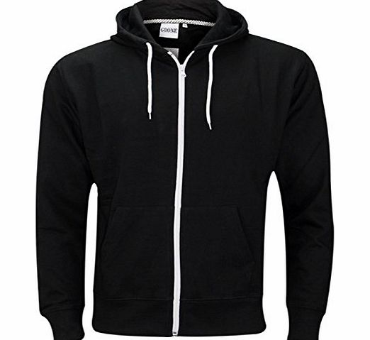 Generic Mens Zip Up Hoody Jacket Black/M