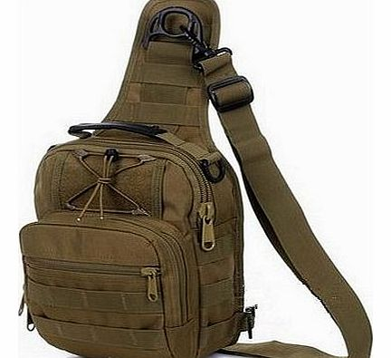 tactical fly fishing pack camping equipment outdoor sport nylon wading chest pack crossbody sling single shoulder bag,men unisex (Yellow)
