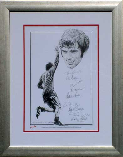 Best - 1968 European Cup print signed 9 - Framed