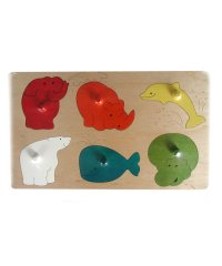 Wooden Shape Puzzle - Big Animals