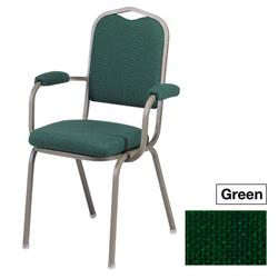 ggi Executive Banquet Chair With Arms Green