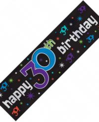 Metallic Sign Banner - 30th Party Continues