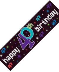 Metallic Sign Banner - 40th Party Continues