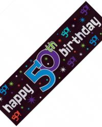 Metallic Sign Banner - 50th Party Continues