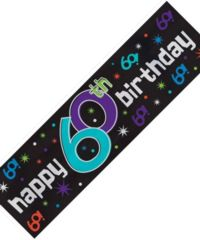 Metallic Sign Banner - 60th Party Continues