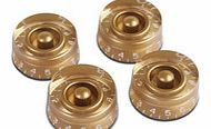 Speed Knobs for Electric Guitar 4 Pack Gold