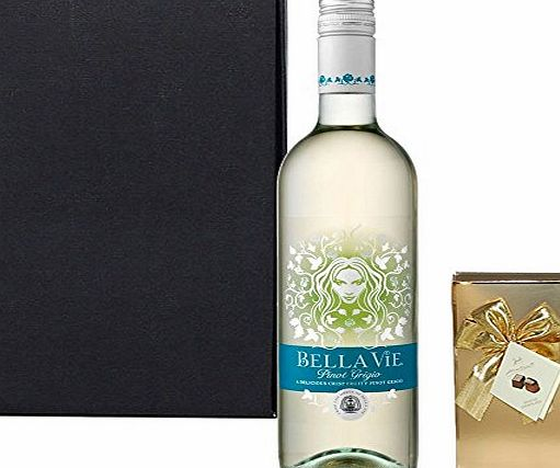 Gifts2Drink Italian White Wine amp; Chocolates Gift Set with Hand Crafted Gifts2Drink Tag