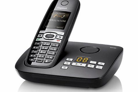 C610A - Cordless phone w/ answering system amp; caller ID - DECT\GAP - piano black