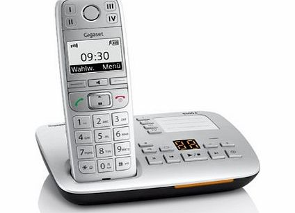 E500A Big Button Single DECT Cordless Phone with SOS Function and Hearing Aid Compatibility - Silver