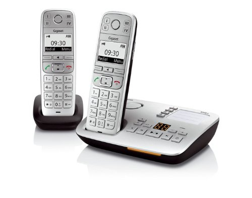 E500A Big Button Twin DECT Cordless Phone with SOS Function and Hearing Aid Compatibility - Silver